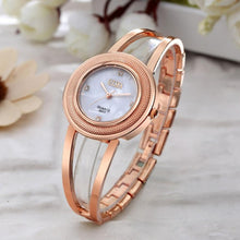 Load image into Gallery viewer, O.T.Sea Brand Crystal Diamond Luxury Bracelet Watch Women's Watches Rose Gold Sliver