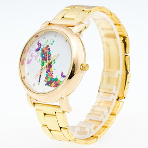 2017 Luxury Fashion Watches Women Gold Women Stainless Steel Quartz Wrist Watch relogio feminino
