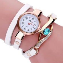 Load image into Gallery viewer, Fashion luxury womens watches 2016 Women Diamond Wrap Around Leatheroid Quartz