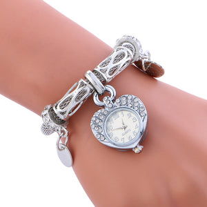 2017 Fashion Luxury Women Watches Quartz Stainless Steel Bracelet