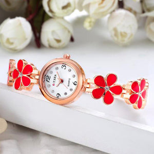 2017 O.T.Sea Watches Women Luxury Flower Quartz Watch Women Stainless Steel  #504