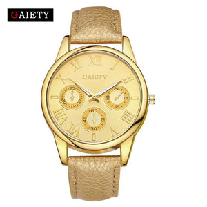 GAIETY  Fashion Women Watches Luxury PU Leather Ladies Watch Women Dress Clock relogio feminino #815