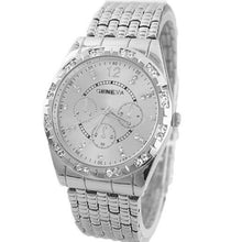 Load image into Gallery viewer, Men Diamond Metal Band Analog Quartz Fashion Wrist Watch