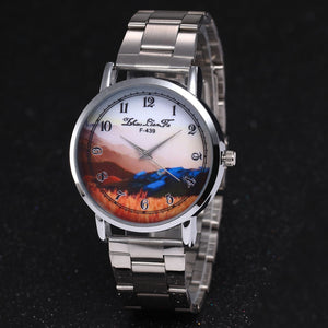 Fashion Luxury Women Quartz Stainless Steel Strip Wrist Watch Gift