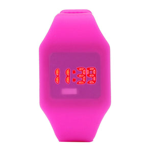 Mens Womens Silicone LED Watch Sports Bracelet Digital Wrist Watch