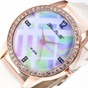Luxury Women Quartz Wrist Watch Leather Band Casual Dress Watch