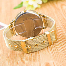 Load image into Gallery viewer, Men Women Stainless Steel Band Crystal Wrist Watches Quartz Watch Bracelet