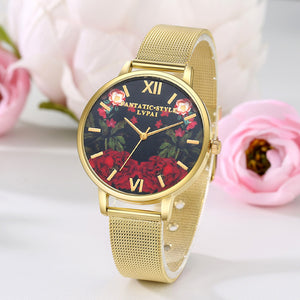 LVPAI Watches Women Quartz Wristwatch Clock Ladies Dress Gift Watches