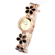 Load image into Gallery viewer, Fashion Daisies Flower Rose Gold Bracelet Wrist Watch Women Girl