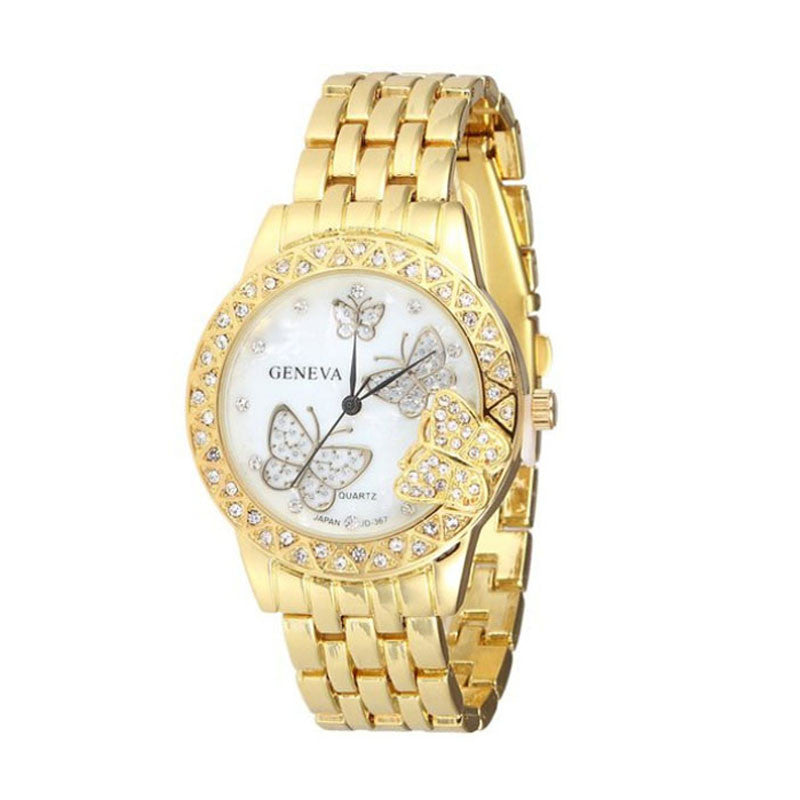 Exquisite Luxury Women Man Diamondtterfly Quartz Watch Wrist Watch