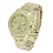Load image into Gallery viewer, Geneva Women Fashion Luxury Rhinestone Crystal Quartz Analog Watch