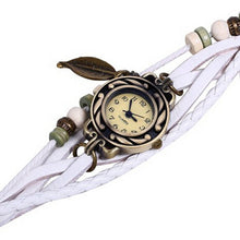 Load image into Gallery viewer, Women Girl Vintage Watches, Bracelet Wristwatches leaf Pendantite