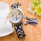 Load image into Gallery viewer, Luxury Watches Women Cute Glasses Cat Quartz Dial Wrist Watch Multi color  feminino