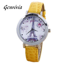 Load image into Gallery viewer, 2017 Ladies Watch Women Fashion Leater Band Women Quartz Wrist Watch High Quality Watches Women