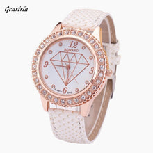 Load image into Gallery viewer, GENVIVIA montres femme Fashion Women Diamond Analog Leather Quartz luxury watches for women