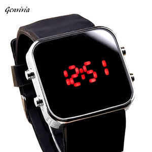 GENVIVIA  men & women Mirror LED Digital Watch Mele Sport Watches Unisex Watch Gift For Men Women