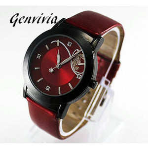 Girl ladies watches Women Luxury leather watch Diamond Pretty Quartz relogio