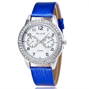 Watches Women Fashion Rhinestone Dress Watch Ladies Casual Leather Strap Quart