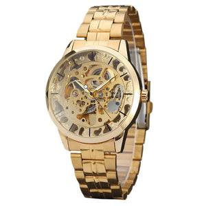 Mens Watches Top Brand Luxury Hollow Skeleton Automatic Watch Men Watch Clock