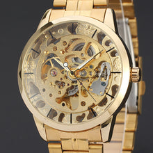 Load image into Gallery viewer, Mens Watches Top Brand Luxury Hollow Skeleton Automatic Watch Men Watch Clock