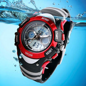 Skmei kids Children LED Quartz Watch For Boy Girl Diving Wristwatch