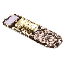 Load image into Gallery viewer, Reversible Sequin Charm Slap Wristband Strap  Women  Slap Bracelet for Kids Girls Boys