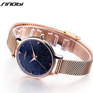 SINOBI Brand Luxury Women's Watches Shiny Starry Sky Watch Women Watches