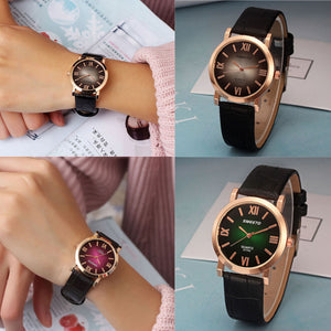 Women Fashion Luxury Leather Analog Quartz Vogue Watches