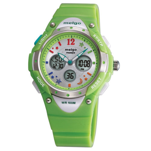 PASNEW PSE-2001AD Wateproof Student Boys Girls Dual Time Display LED Digital