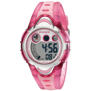Multi-function Sport Watch Digital  Wrist Watch Water Resistant Watch for Girls Boys (Pink)