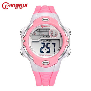 Fashion Kids Waterproof Silicone Digital Children Watches Boy Girl Luminous LED Watch