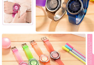 Children Waterproof Silicone Strap Watch Kids Fashion Cute Watch Students Girl Watch