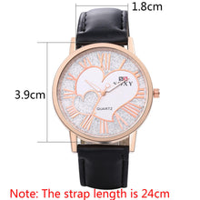 Load image into Gallery viewer, Soxy Brand Watch Women Fashion Leather Quartz Watch Luxury Gold Leather Strap Heart-Shaped Clock