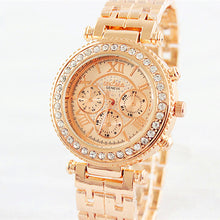 Load image into Gallery viewer, Fashion Bracelet Women Luxury Rhinestone Full Steel Quart Watch