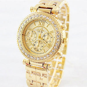 Fashion Bracelet Women Luxury Rhinestone Full Steel Quart Watch