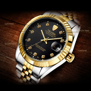 Men Brand Wristwatch Waterproof Semi-automatic Mechanical Watch Luminous Sport