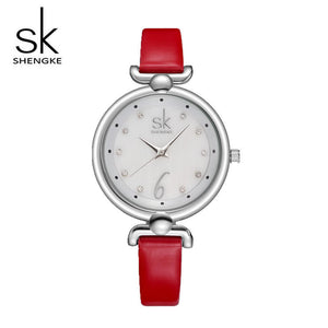 Watch    Diamond Watch Women Watches Waterproof Small Leather Watches