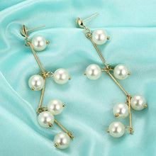 Load image into Gallery viewer, Luxury Natural Freshwater Pearl Long Earrings for Women Pearls Jewelry Party Gif