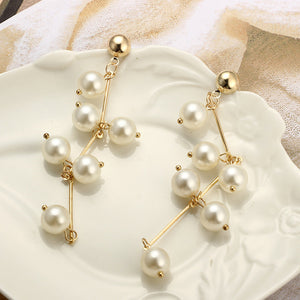 Luxury Natural Freshwater Pearl Long Earrings for Women Pearls Jewelry Party Gif