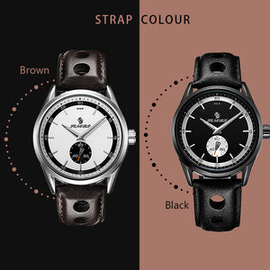 Casual 3ATM  Quartz Watches Genuine Leather Band Watch Male Relogio Masculino