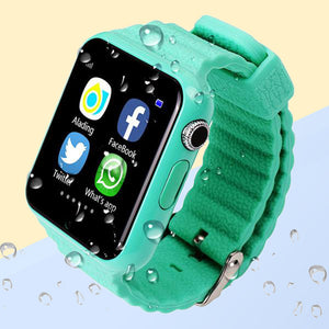 V7K GPS Bluetooth Smart Watch for Kids Boy Girl Safe Anti-Lost Monitor Christmas Gift
