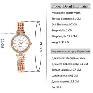 Fashion Women Luxury Stainless Steel Watches Casual Ladies Quartz Watch