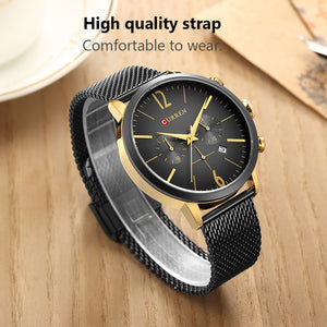 Curren Men Watches Fashion Casual Style Leather Quartz Male Sport Wristwatches Relogio Masculino