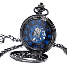 Load image into Gallery viewer, Men's Pocket Watch, Black Mechanical Hand Wind Women Mens Pocket Watch, Gift for Men