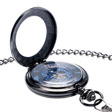 Load image into Gallery viewer, Men's Pocket Watch, Antique Black Mechanical Hand Wind Pocket Watch Women Mens, Gift for Men