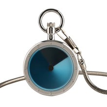 Load image into Gallery viewer, Novel Silver Swirl Design Quartz Pocket Watch for Men, Vintage Clock