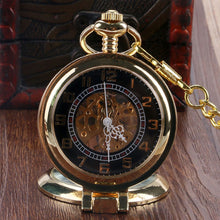 Load image into Gallery viewer, Men's Pocket Watch, Classic Steampunk Bronze Stainless Watch, Gift for Men