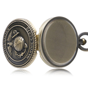 Men's Pocket Watch, Vintage Bronze Quartz Pocket Watch Men Women, Gift for Men