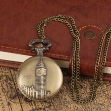 Load image into Gallery viewer, Men's Pocket Watch, Antique Bronze Big Ben London Quartz Men Pocket Watch, Gift for Men