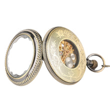 Load image into Gallery viewer, Men's Pocket Watch, Bronze Mechanical Hand Wind Mens Fashion Pocket Watch Gifts, Gift for Men